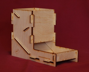Flat Pack Dice Tower