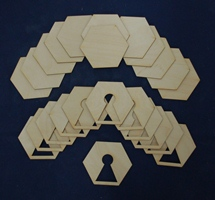 PD-11008 Hex Set with Keyhole Shaped Hole