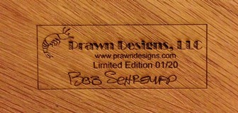 PD-12003 Oak Board Back Stamp