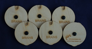 Brains Spin Counter set of 6