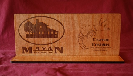 Mayan Hardwood Inlay Sign