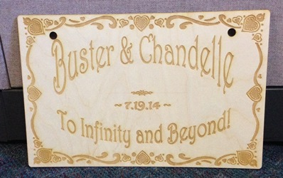 Custom Wedding Sign 1
